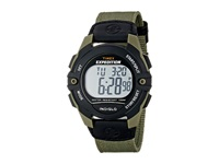 Timex Expedition Full Size Digital Cat Nylon Strap Watch Black Green Watches