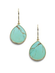 Ippolita Polished Rock Candy Turquoise And 18K Yellow Gold Mini Teardrop Earrings
