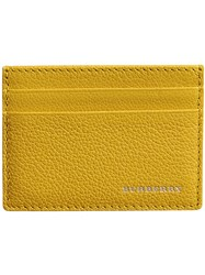 Burberry Grainy Leather Card Case Yellow And Orange