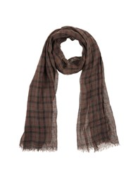 Brunello Cucinelli Accessories Oblong Scarves Men Dark Brown
