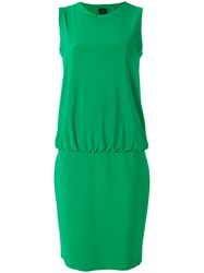Norma Kamali Drop Waist Shift Dress Women Polyester Spandex Elastane S Green