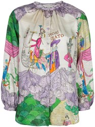 Tsumori Chisato Embroidered Long Sleeve Blouse Multicolour