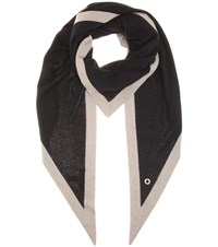 Loro Piana Twice Cashmere And Silk Scarf Black