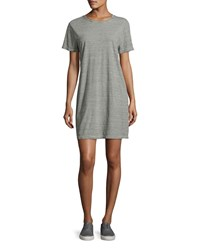 Current Elliott The Beatnik Striped T Shirt Dress Gray