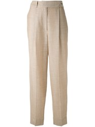 Nehera Straight Trousers Women Silk Cotton Linen Flax Wool 36 Beige
