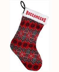Forever Collectibles Tampa Bay Buccaneers Ugly Sweater Knit Team Stocking Red