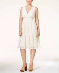 Styleandco. Style And Co. Plus Size Lace A Line Dress Only At Macy's Vintage Cream