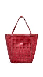 Elizabeth And James Teller Woven Tote Red