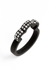 Marc By Marc Jacobs 'Diamonds And Daisies' Flower Band Ring Black