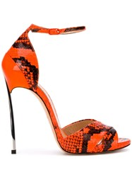 Casadei Techno Blade Sandals Orange