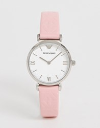 Emporio Armani Ar11205 Gianni T Bar Leather Watch 32Mm Pink
