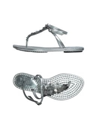 Belle By Sigerson Morrison Thong Sandals Silver