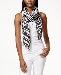 Inc International Concepts Geo Printed Pashmina Wrap Only At Macy's Black Whit