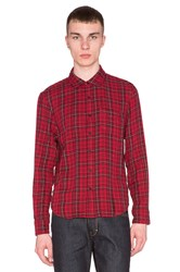 Joe's Jeans Double Woven Plaid Red