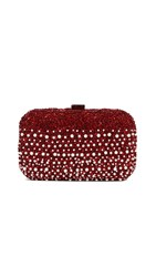Santi Imitation Pearl Clutch Red