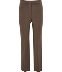 Cc Petite Straight Leg Classic Trousers Brown