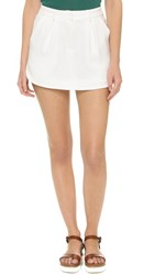 James Jeans Trouser Skort Pearl White