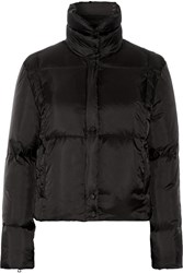Sandro Malka Quilted Shell Coat Black