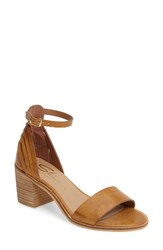 Sbicca Women's Fars Block Heel Sandal Tan Faux Leather
