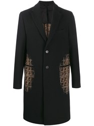 Fendi Shaded Effect Ff Motifs Coat 60
