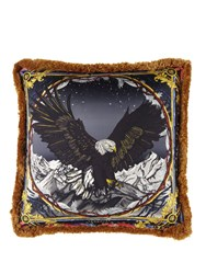 Versace Sam Bald Eagle Silk Accent Pillow