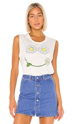 Lauren Moshi Kel Tank In White. Milk