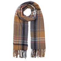 Miss Selfridge Checked Scarf Camel Grey