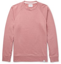 Norse Projects Vorm Mercerised Cotton Jersey Sweatshirt Pink