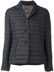 Eleventy Quilted Puffer Jacket Black