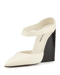 Cnc Costume National Pointed Toe Wedge Mule White