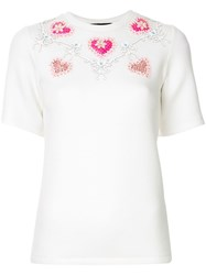 Manish Arora Embellished Heart T Shirt White