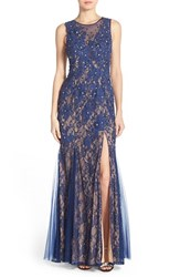 Women's Sean Collection Embellished Lace Gown