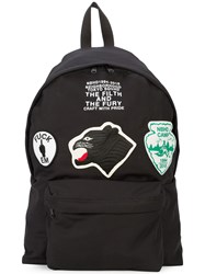 Neighborhood Patched Backpack Black