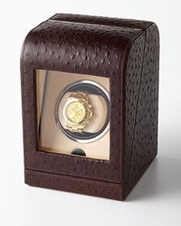 Bergdorf Goodman Ostrich Print Single Watch Winder
