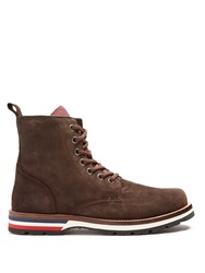 Moncler New Vancouver Suede Boots Brown Multi