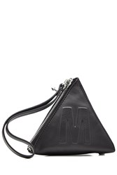Mcq By Alexander Mcqueen Leather Pyramid Pouch Black