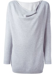 Fay Cowl Neck Sweater Grey