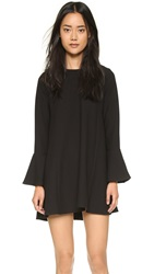Wayf Flutter Sleeve Dress Black