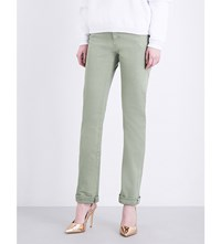 Fiorucci The Yves Tapered High Rise Jeans Field Olive