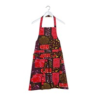 Marimekko Pieni Purnukka Apron Green Red Yellow