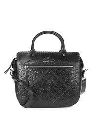 Nanette Lepore Highland Park Leather Satchel Black