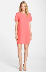 Women's Felicity And Coco Crepe Shift Dress Electric Coral