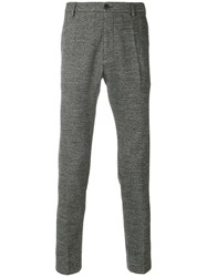 Al Duca D'aosta 1902 Fitted Tailored Trousers Cotton Polyamide Virgin Wool Black