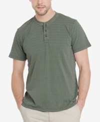 G.H. Bass And Co. Men's Jack Mountain Textured Henley T Shirt Agave Green