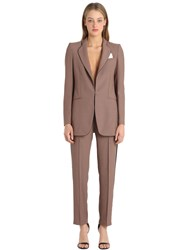 The Hebe Suit Viscose Crepe Smoking
