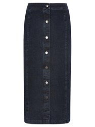 Viyella Denim Pencil Skirt Blue Denim