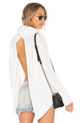 One Teaspoon Pure Roll Neck Sweater White