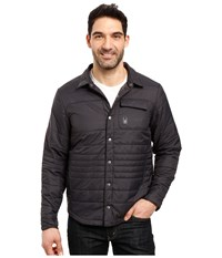 Spyder Kerb Shirt Jack Insulator Jacket Black Polar Men's Coat Brown