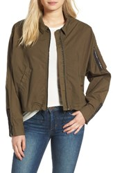 James Perse Women's Dolman Sleeve Bomber Jacket