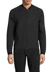 J. Lindeberg Zip Front Athletic Jacket Dark Grey